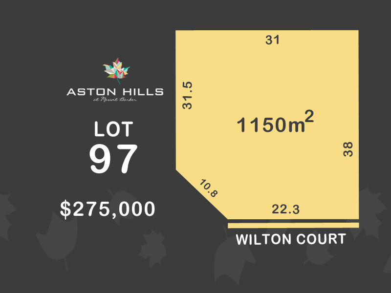 Lot 97, Wilton Court (Aston Hills), Mount Barker, SA 5251