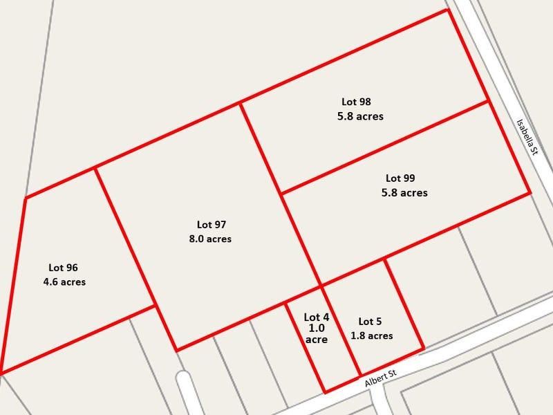 Lots 4, 5, 96-99, Albert St & Isabella St, Stanwell, Qld 4702