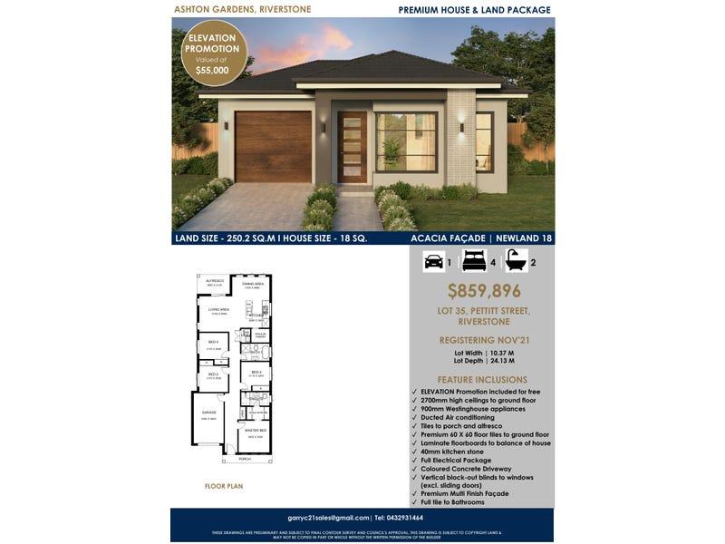 LOT 35 Pettitt Street, Riverstone, NSW 2765