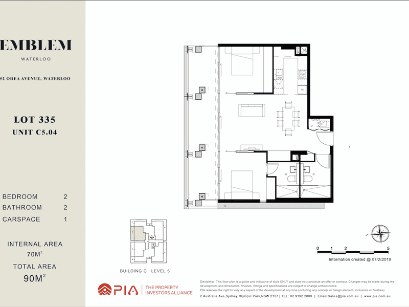 lot 335/16-38 Gadigal Ave, Waterloo, NSW 2017 - floorplan