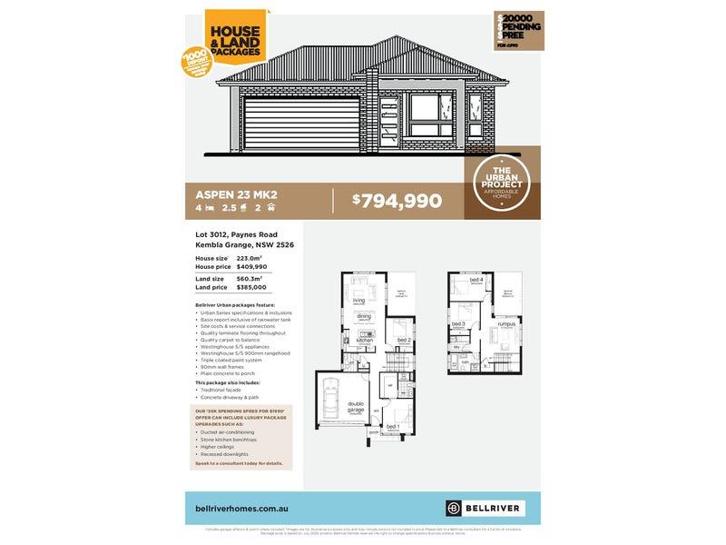 True Fixed Pricing Lot 3012 Paynes Road, Kembla Grange, NSW 2526