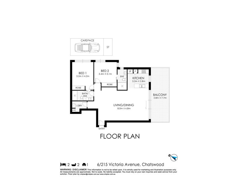 6/215-221 Victoria Avenue, Chatswood, NSW 2067 - floorplan