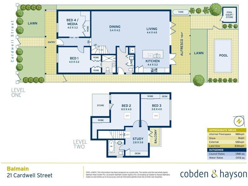 21 Cardwell Street, Balmain, NSW 2041 - floorplan