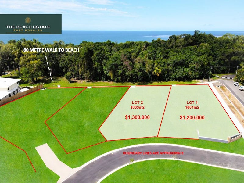 Lot 1 and 2, 30 Langley Road (The Beach Estate), Port Douglas, Qld 4877