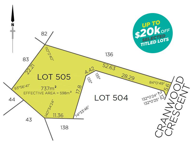 Lot 505, 28A Cranwood Crescent, Viveash, WA 6056