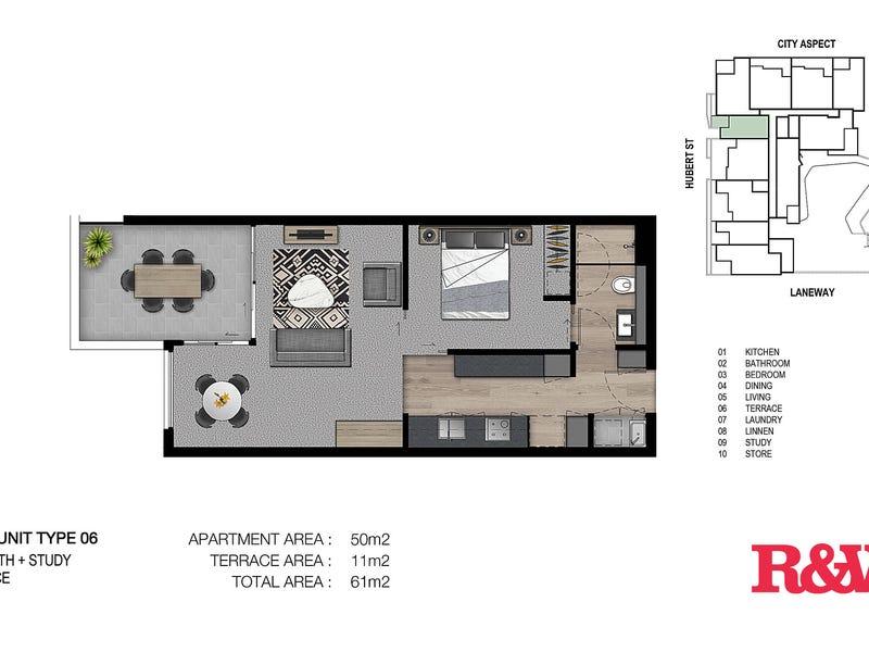 1406/4 Hubert Street, Woolloongabba, Qld 4102 - floorplan