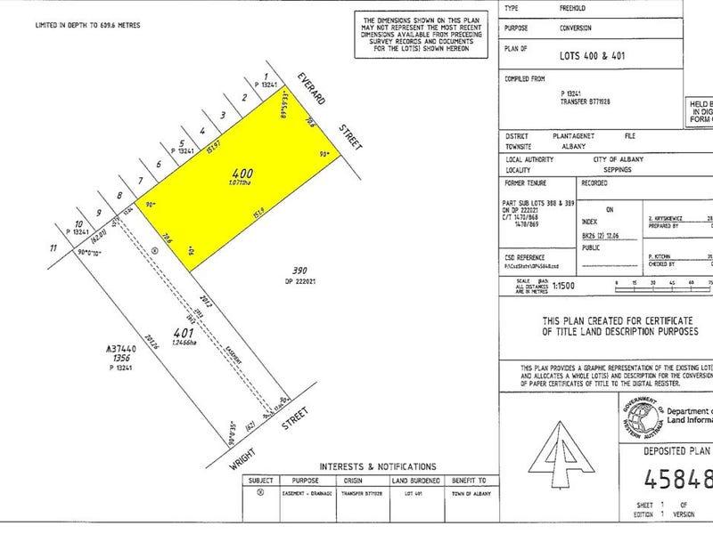 Lot 400, Lot 400 Everard Street & Lot 401 Everade Street, Collingwood Park, WA 6330