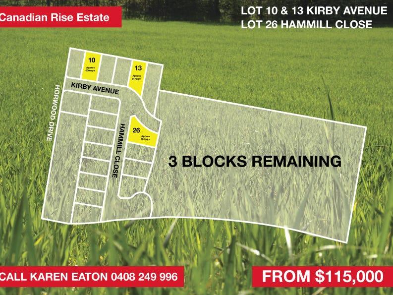 Lot 10,13 & 26, Kirby Ave & Hammill Close, Canadian
