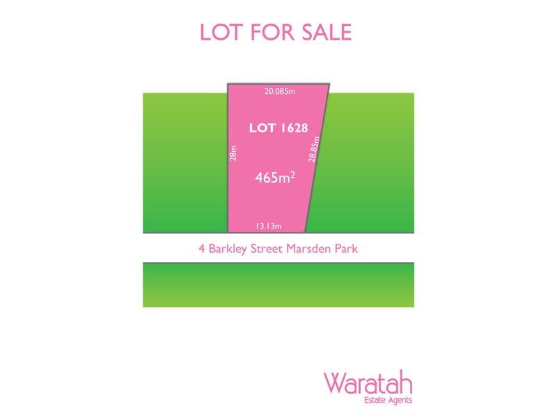 Lot 1628, 4 Barkley Street, Marsden Park, NSW 2765