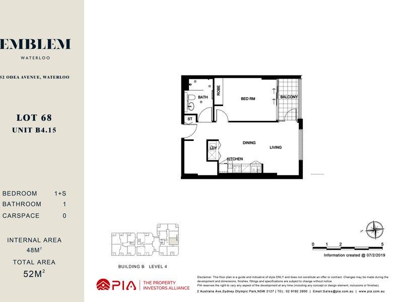 lot 68/16-38 Gadigal Ave, Waterloo, NSW 2017 - floorplan