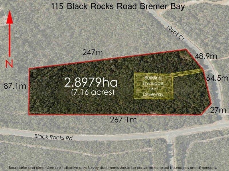Lot 115, Black Rocks Road, Bremer Bay, WA 6338