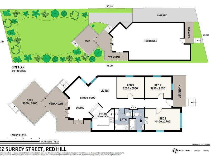 22 Surrey Street, Red Hill, Qld 4059 - floorplan