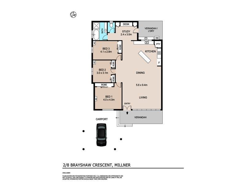 2/8 Brayshaw Crescent, Millner, NT 0810 - floorplan