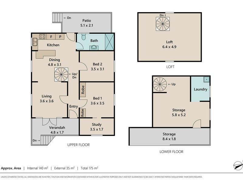 34 Confederate Street, Red Hill, Qld 4059 - floorplan