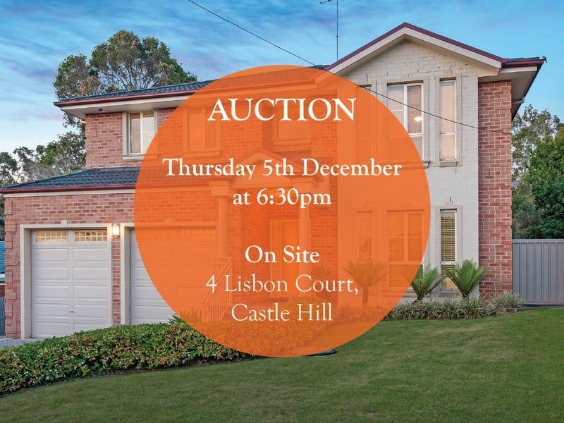 4 Lisbon Court, Castle Hill, NSW 2154