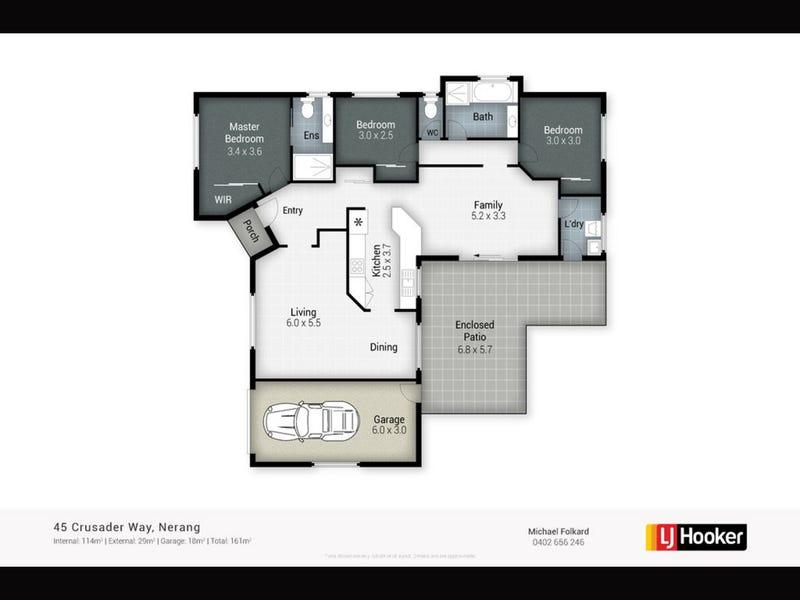 45 Crusader Way, Nerang, Qld 4211 - floorplan
