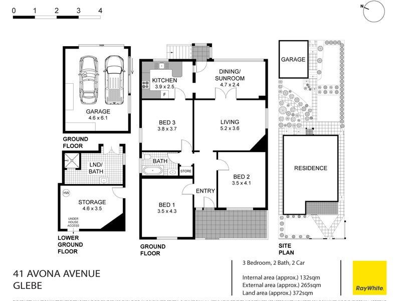 41 Avona Avenue, Glebe, NSW 2037 - floorplan