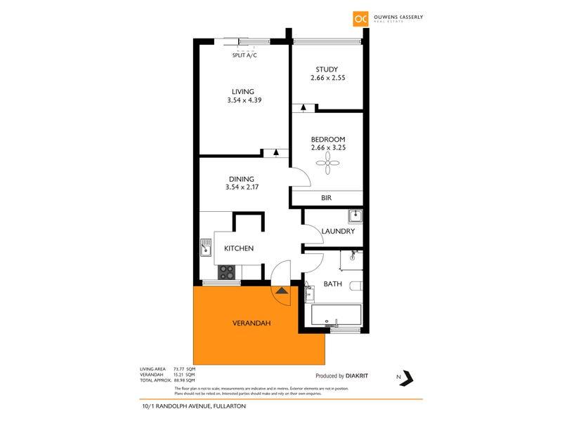 10/1 Randolph Avenue, Fullarton, SA 5063 - floorplan