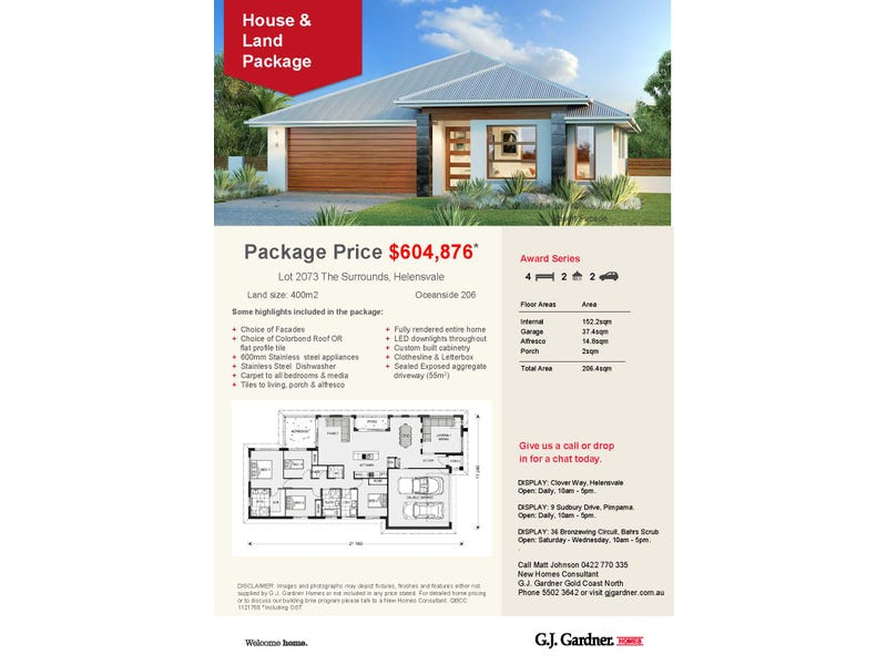 Lot 2073 Mint Way, The Surrounds, Helensvale, Qld 4212