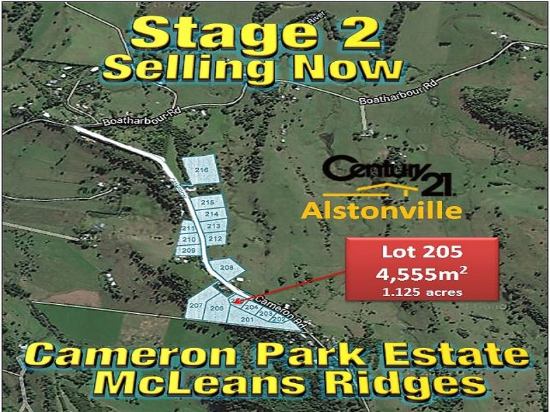 LOT 205, CAMERON ROAD, McLeans Ridges, NSW 2480