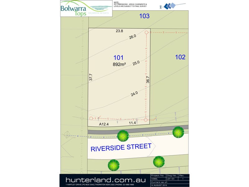 Lot 101 Riverside Street, Bolwarra Heights, NSW 2320