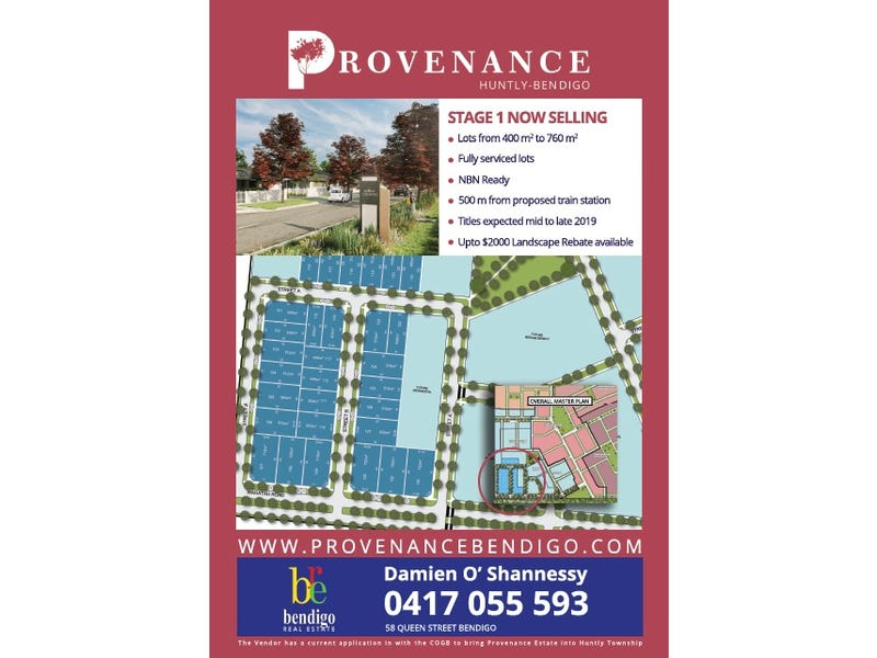Stage 1 Provenance Estate (Lots 101 - 130), Huntly, Vic 3551