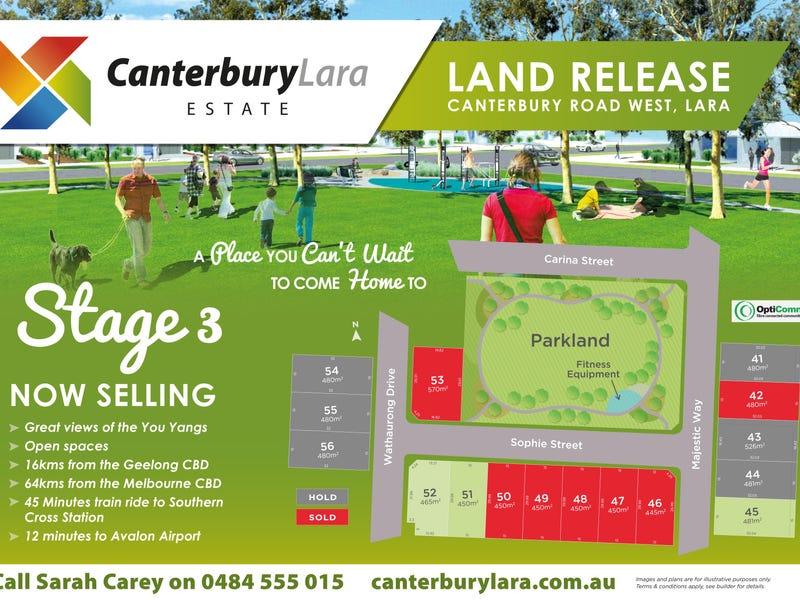 50 Canterbury Road West (Canterbury Lara Estate) Stage 3, Lara, Vic 3212