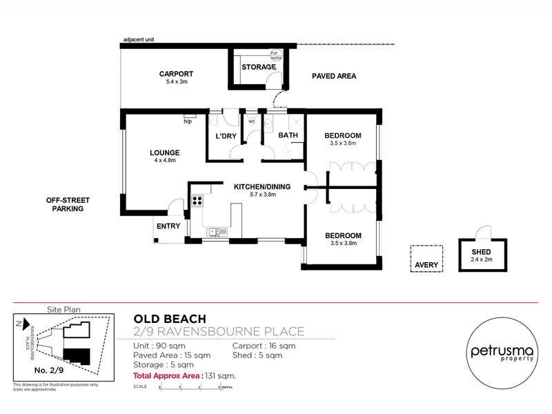2/9 Ravensbourne Place, Old Beach, Tas 7017 - floorplan
