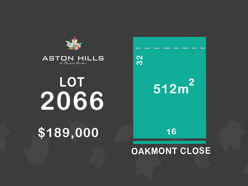 Lot 2066, Oakmont Close (Aston Hills), Mount Barker, SA 5251