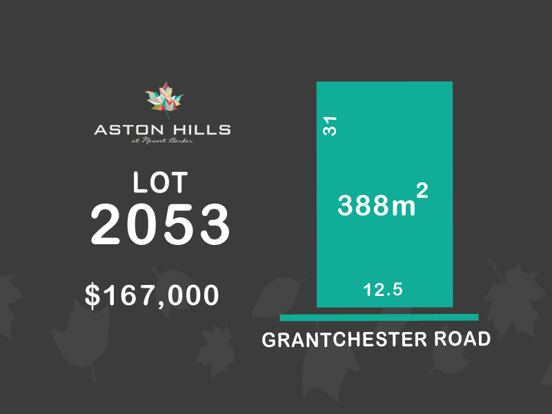 Lot 2053, Grantchester Avenue (Aston Hills), Mount Barker, SA 5251