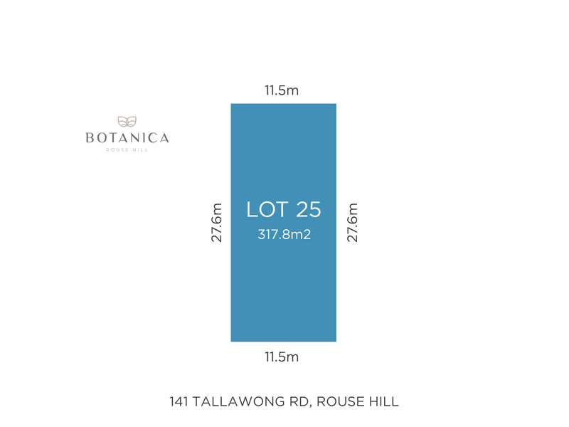 Lot 25, 141 Tallawong rd, Rouse Hill, NSW 2155