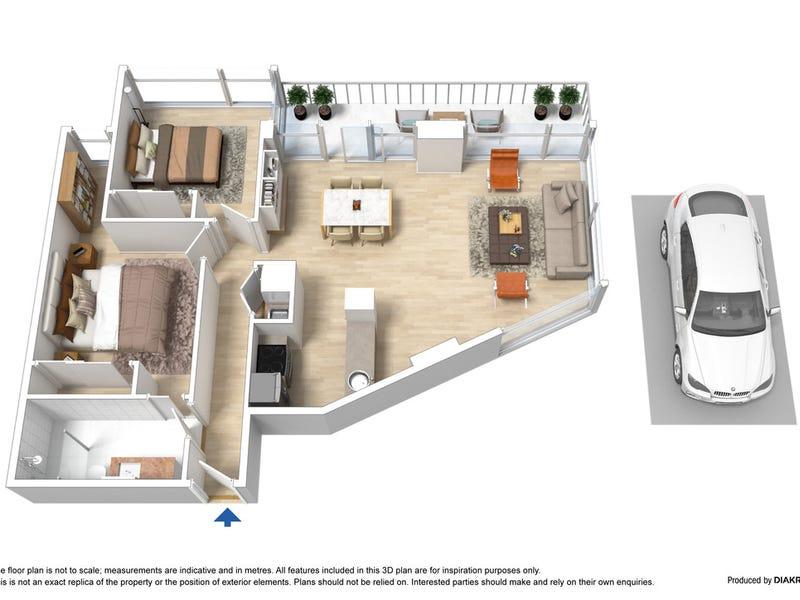 1708/22-24 Jane Bell Lane, Melbourne, Vic 3000 - floorplan