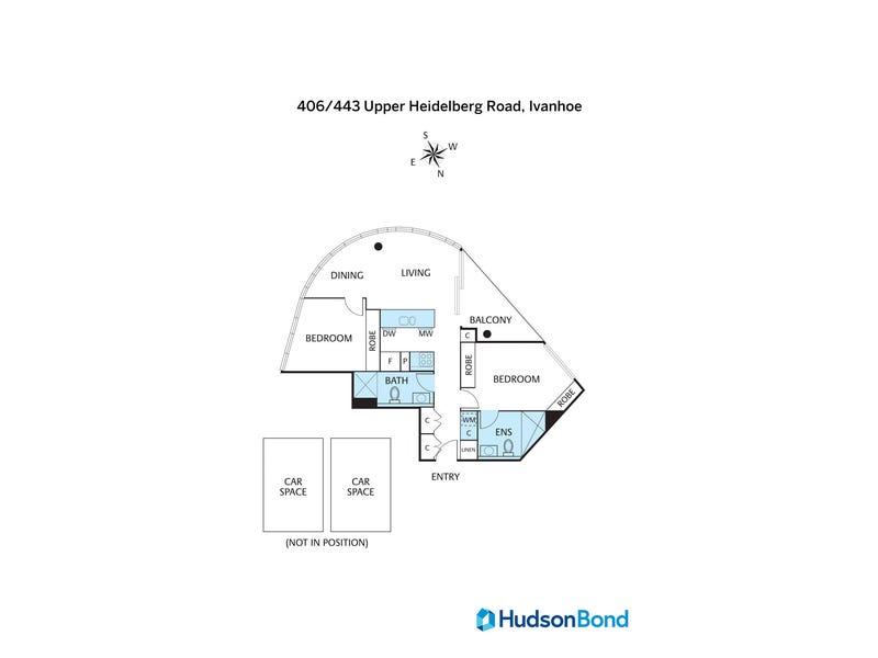 406/443 Upper Heidelberg Road, Ivanhoe, Vic 3079 - floorplan