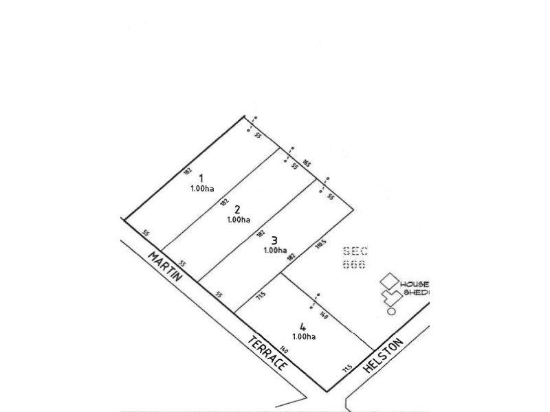 Proposed Allotments 1,2,3 & 4 Martin Terrace, Kadina, SA 5554