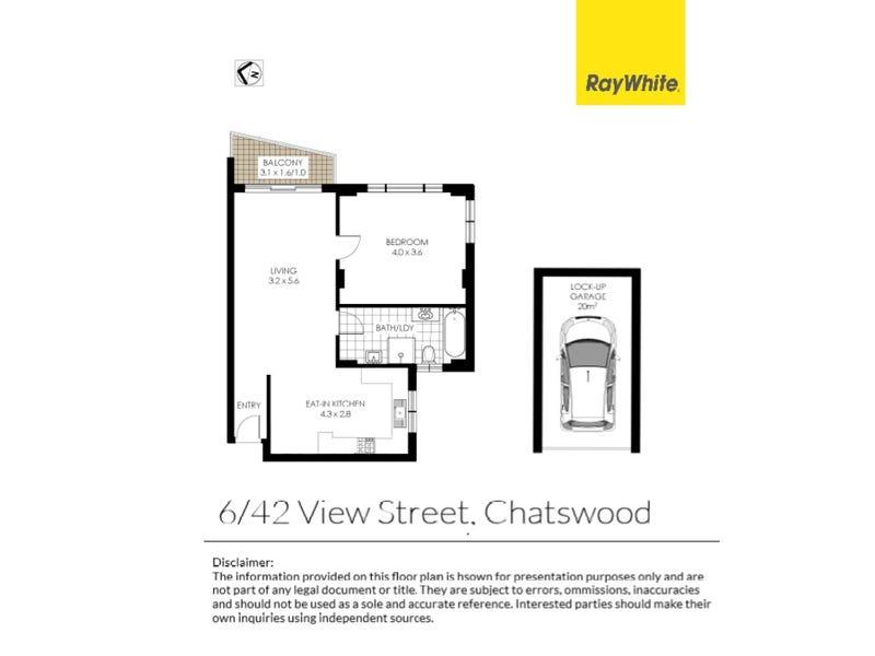 6/42 View Street, Chatswood, NSW 2067 - floorplan