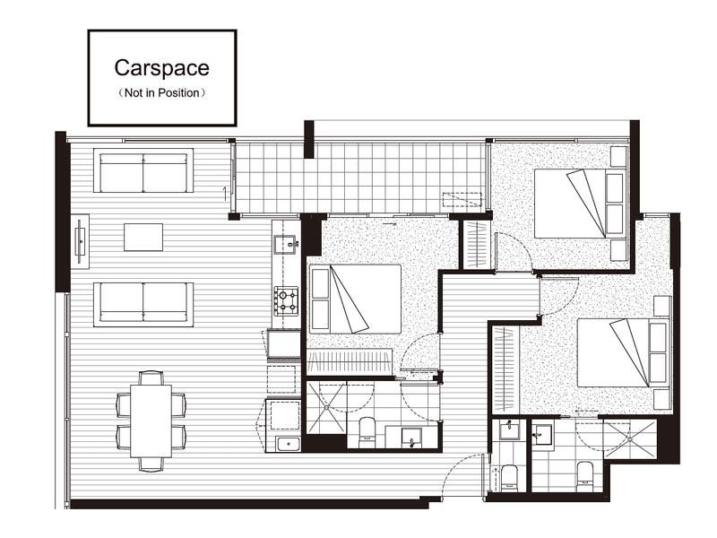 1006/288 Albert Street, Brunswick, Vic 3056 - floorplan