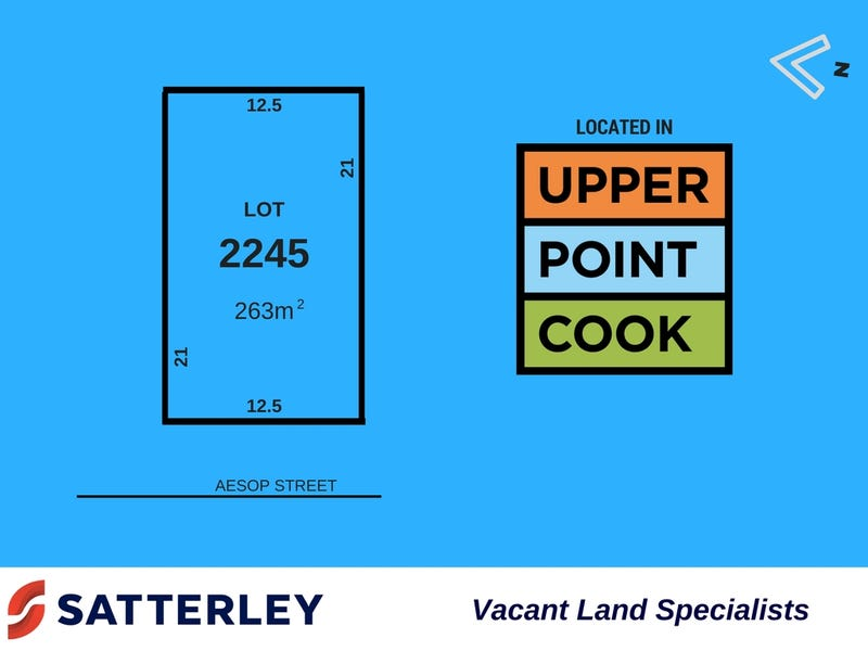Lot 2245 Aesop Street, Point Cook, Vic 3030