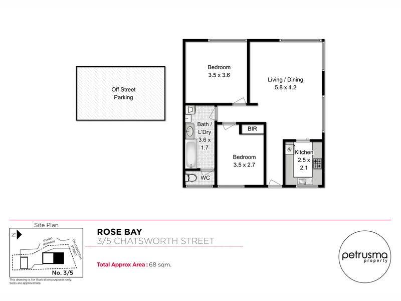 3/5 Chatsworth Street, Rose Bay, Tas 7015 - floorplan