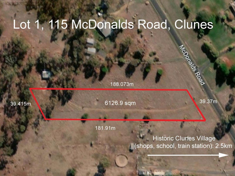 Lot 1, 115 McDonalds Road, Clunes, Vic 3370
