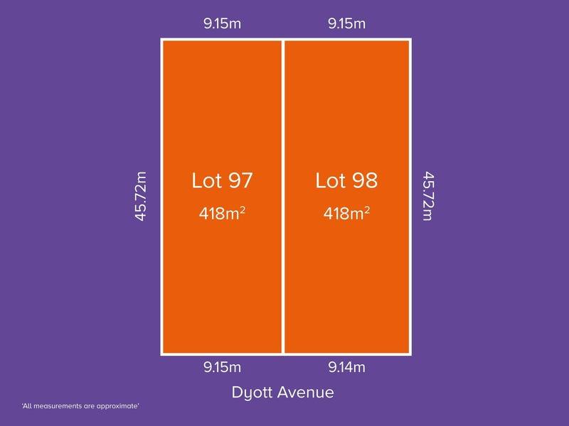 Lot 97 & 98, 62 Dyott Avenue, Hampstead Gardens, SA 5086
