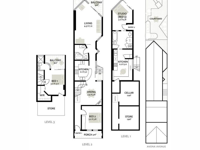 3 Avona Avenue, Glebe, NSW 2037 - floorplan