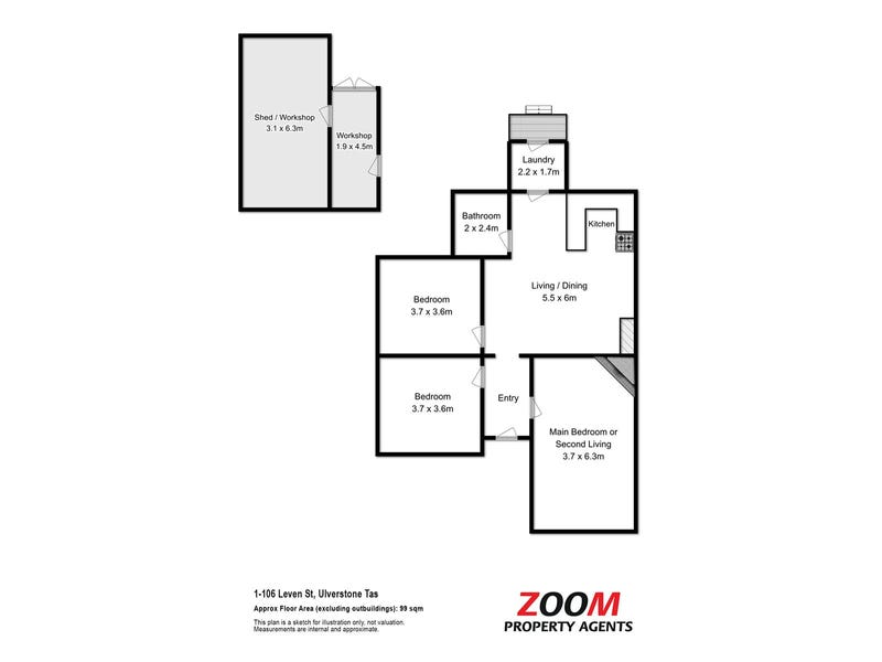 1/106 Leven Street, Ulverstone, Tas 7315 - floorplan