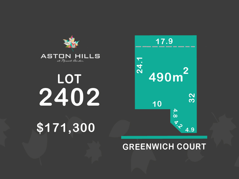 Lot 2402, Greenwich Court (Aston Hills), Mount Barker, SA 5251