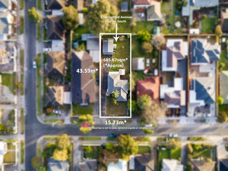 5 Springfield Avenue, Clayton South, Vic 3169