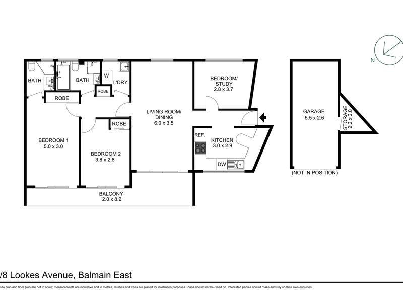 4/8 Lookes Avenue, Balmain East, NSW 2041 - floorplan
