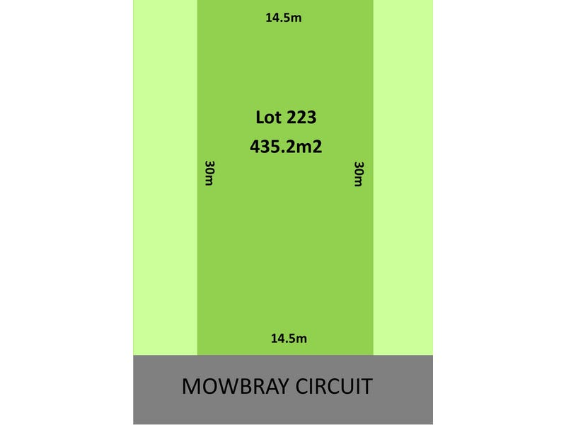 Lot 223, 15 Mowbray Circuit, Kellyville