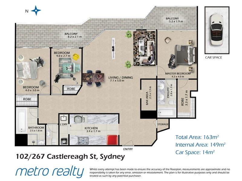102/267-277 Castlereagh Street, Sydney, NSW 2000 - floorplan