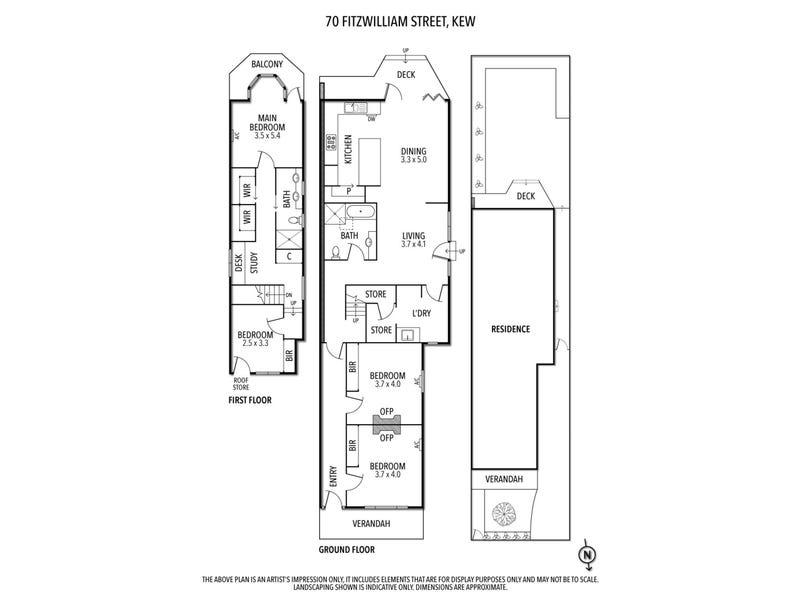 70 Fitzwilliam Street, Kew, Vic 3101 - floorplan