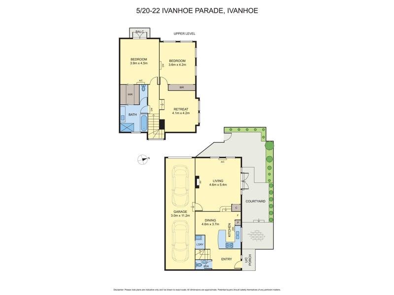 5/22 Ivanhoe Pde, Ivanhoe, Vic 3079 - floorplan