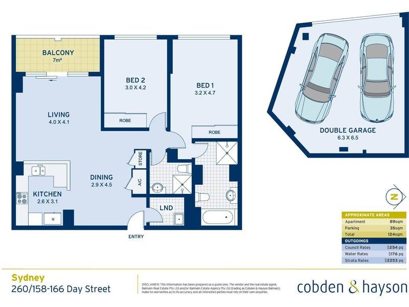 260/158-166 Day Street, Sydney, NSW 2000 - floorplan